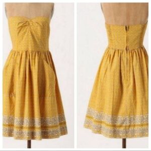 Girls From Savoy Yellow Bandana Strapless Dress
